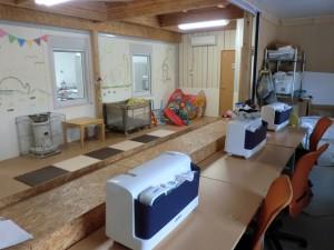 ピースジャム縫製室キッズルーム